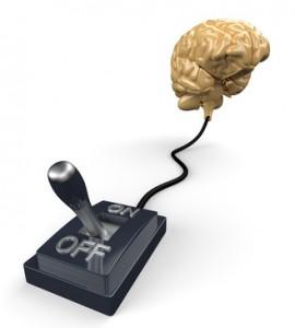 3D Gehirn mit Schalter - OFF